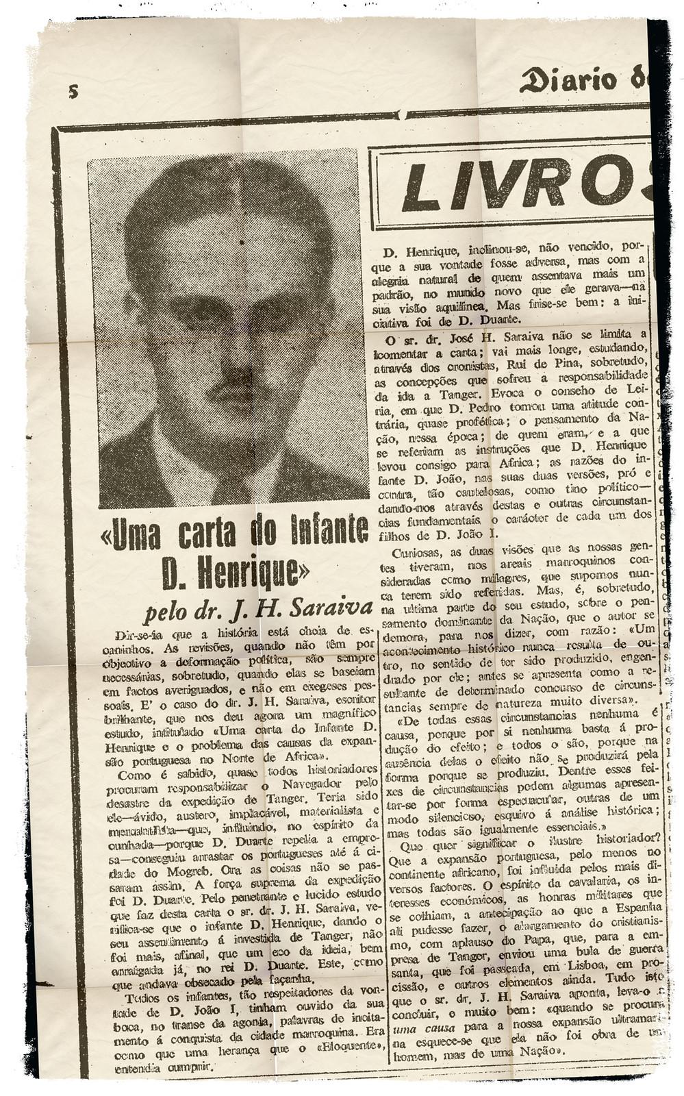 «Uma carta do Infante D. Henrique» pelo dr. J. H. Saraiva (Diário de Lisbôa, 30-6-948)