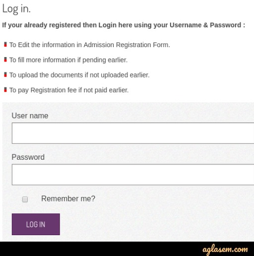 JNEE 2020 Application Form log in