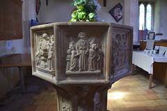 seven sacrament font: matrimony (15th Century)