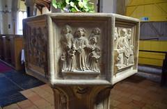 seven sacrament font: confirmation (15th Century)