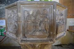 seven sacrament font: Baptism of Christ (15th Century)