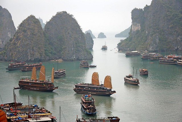 Rush Hour in Halong Bay