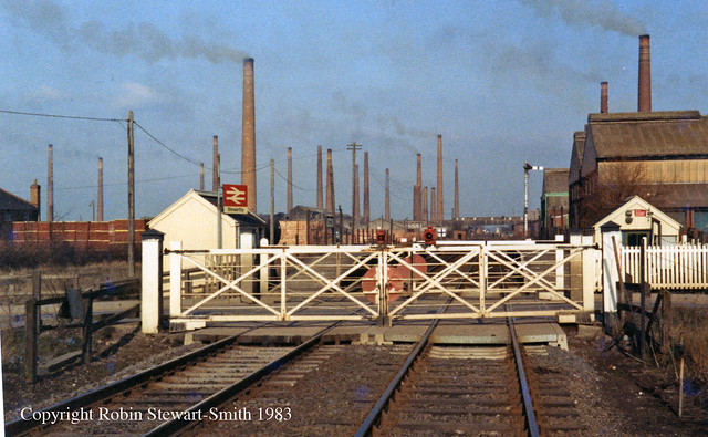 LMS Stewartby Station & Level Crossing (Bedfordshire) on 16th February 1983 copy copy