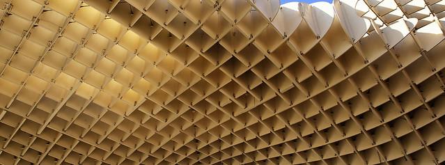The undulating honeycombed roof of Las Setas