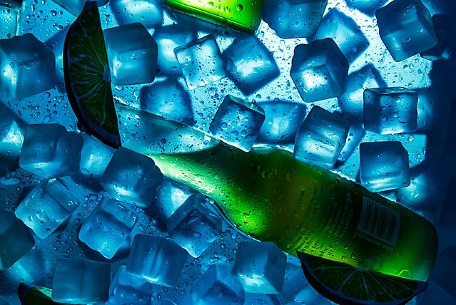 Glaçons de gel.
