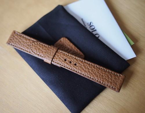 腕時計ベルト ゴールド キャメル1