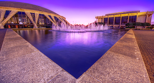 smileonsaturday letitflow norfolk norfolkscope chryslerhall virginiasymphony virginia water fountain sky sunrise sunset urban city downtown architecture building dome structure leadinglines wideangle nikond810 hdr hamptonroads splash symmetry symmetrical