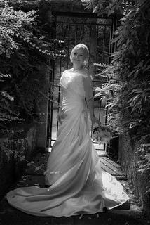 Bride by Gate