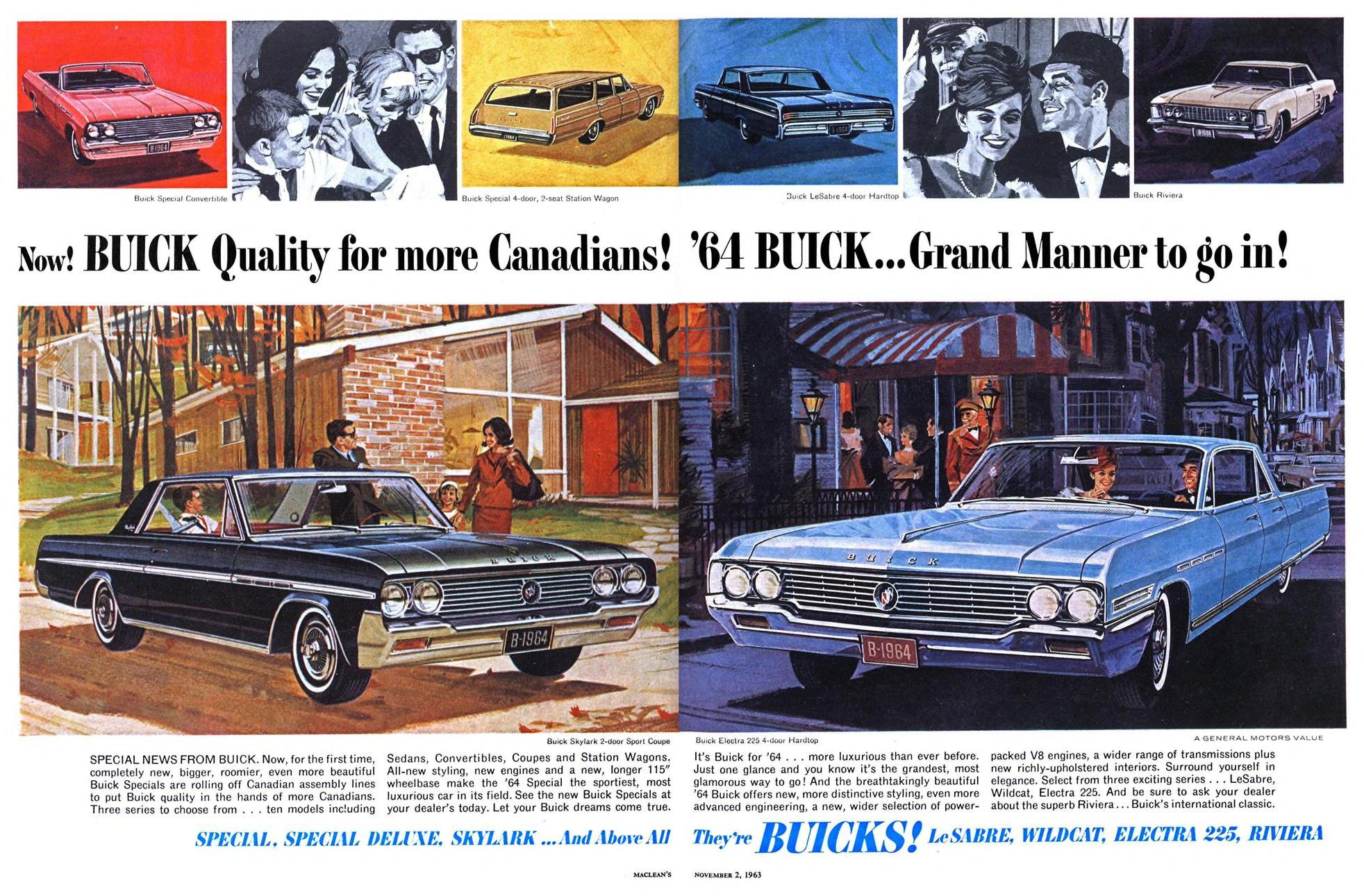 1964 Buick - published in Maclean's - November 2, 1963