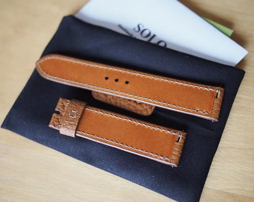 腕時計ベルト ゴールド キャメル2