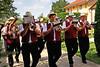 Marschmusik bieten die Banater Musikanten aus Temeswar