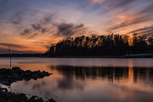 canon6d landscape silhouette nature outside outdoors finland sea water reflections sky clouds colour