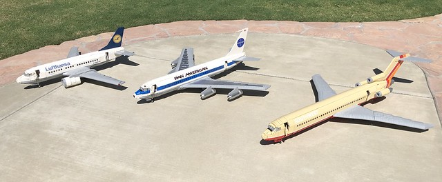 LEGO Boeing Narrow body sisters 707, 727 and 737