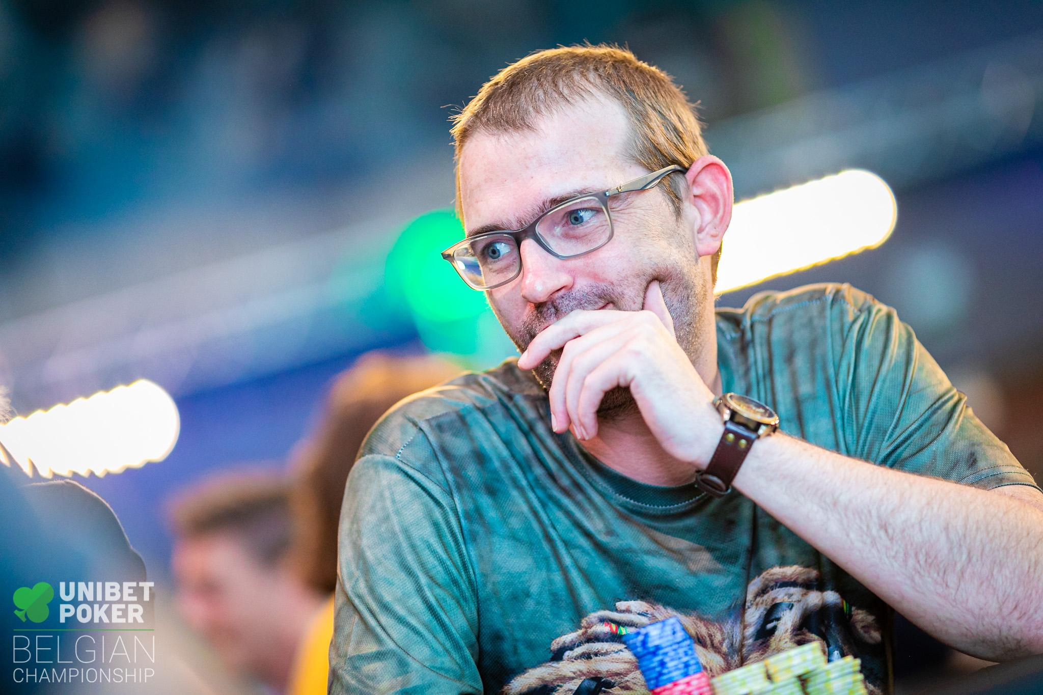 Unibet Poker Belgian Championship 2019 - Main Event (Day 2) 009 William Hens ((C) Tambet Kask 2019)