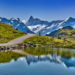 Let's go see an Alpine Paradise. The Bachalpsee panorama. Grindelwald, Canton of Bern, Switzerland.26.08.19, 13:03:17. No. 91.