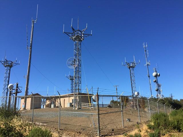 Radio towers at Black Mountain summit