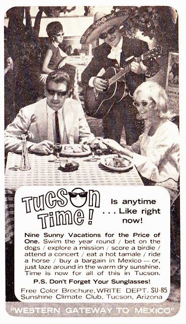 Vintage Ad - Tucson Time! 1965