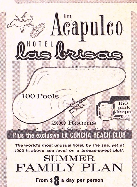 Vintage Travel Ad - Hotel Las Brisas, Acapulco, Mexico - 1965