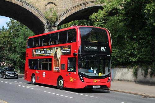 Metrobus EH335 on Route 197, Penge West