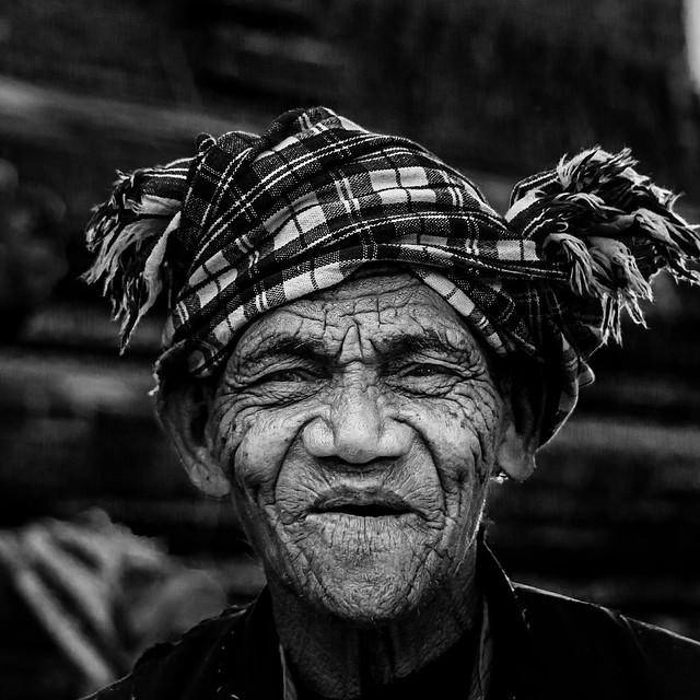 Old man in Myanmar