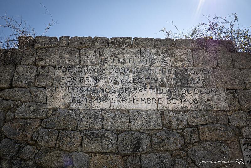 Inscripción en el muro de los Toros de Guisando.