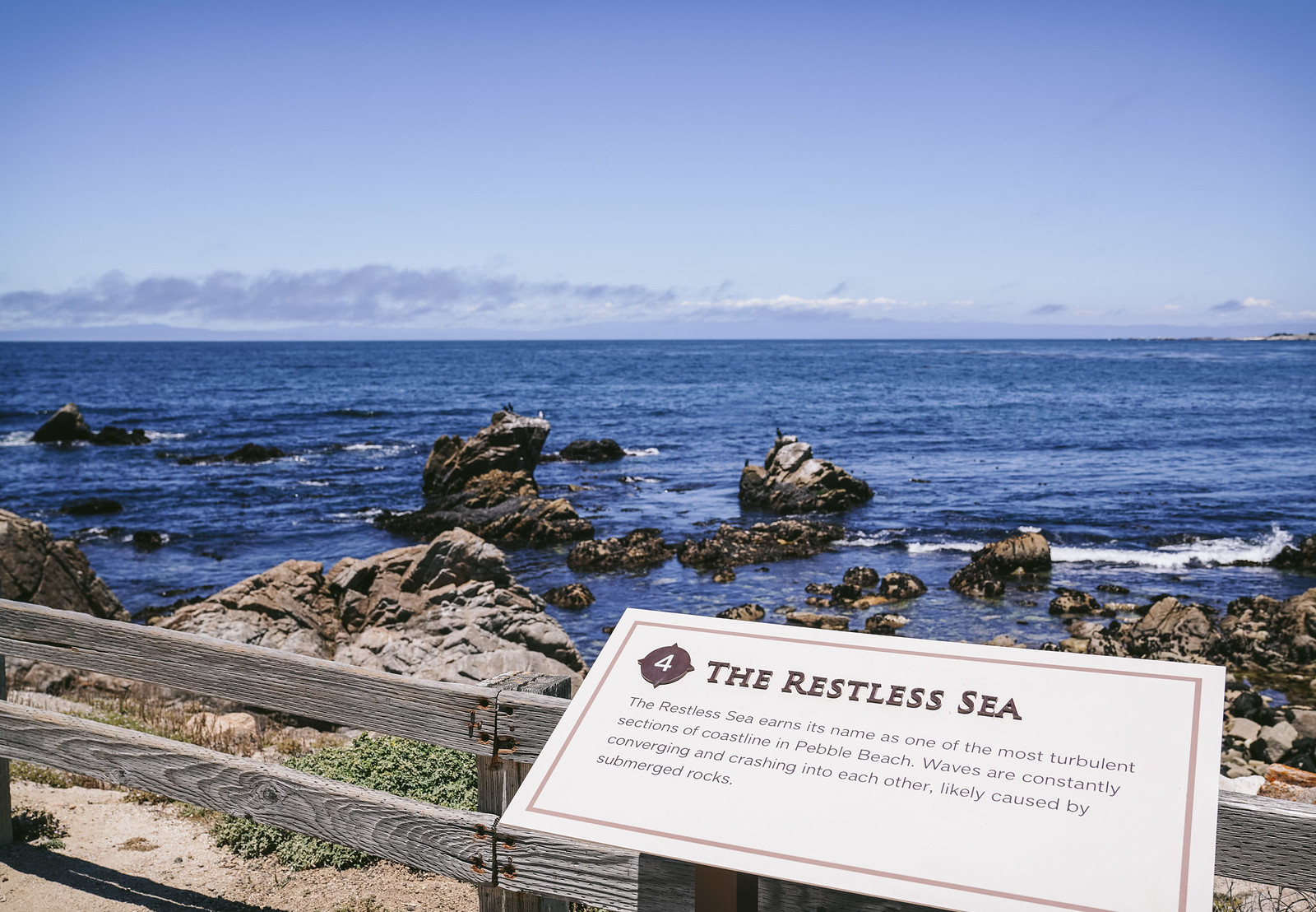 the restless sea at Pebble Beach