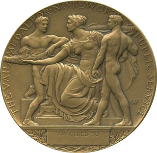 Vail Public Service medal reverse