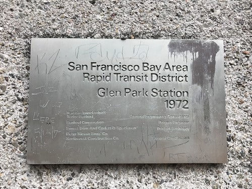 Glen Park Station plaque