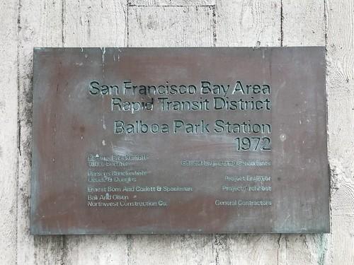 Balboa Park Station plaque