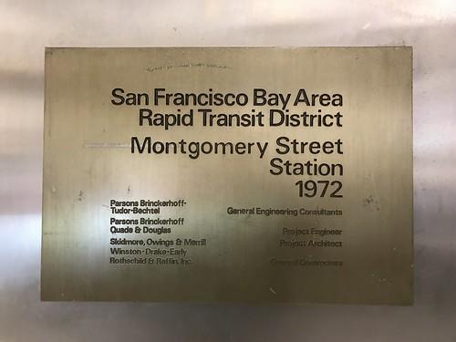 Montgomery Street Station plaque