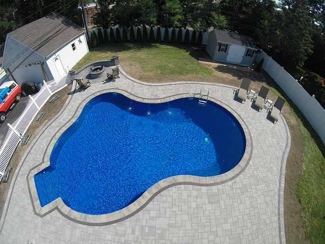 Cambridge Ledgestone Smooth Pool Patio - East Islip, NY 11730