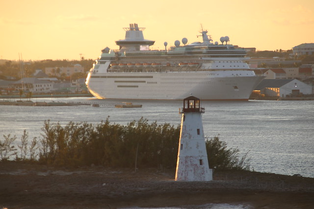 Hog Island Lighthouse in Nassau (Bahamas) taken from the Royal Caribbean Grandeur of the Seas -  Tuesday February 19th, 2019