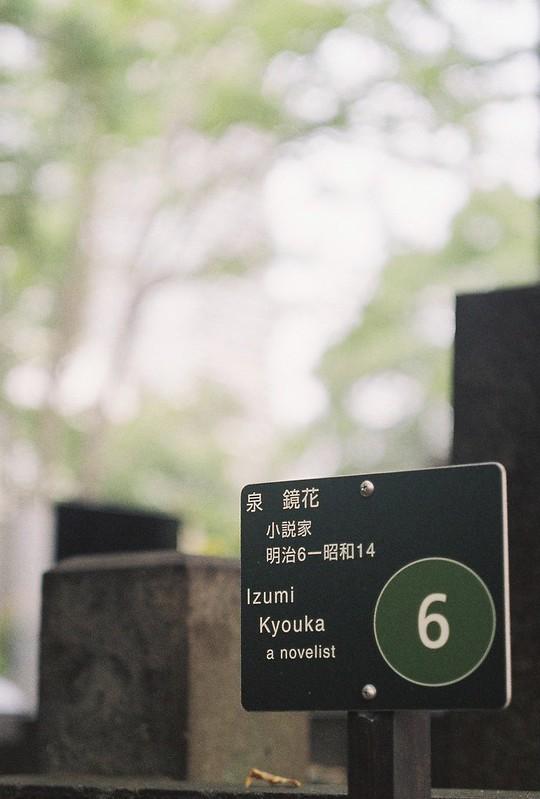 Rolleiflex2 8F+Rolleikin+Kodak Color Plus200雑司が谷霊園泉鏡花の墓