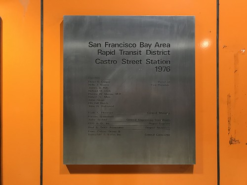 Castro Street Station plaque