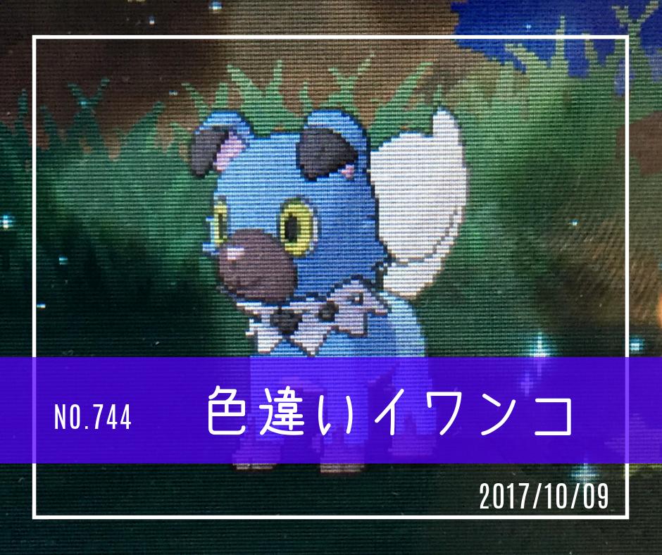ic744(色違いイワンコ)