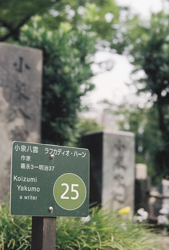 Rolleiflex2 8F+Rolleikin+Kodak Color Plus200雑司が谷霊園小泉八雲の墓