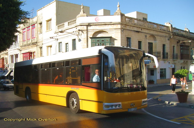 Malta´s luckiest King Long - the one now preserved in the UK DBY390 seen 27.6.2011 final week in service in Malta