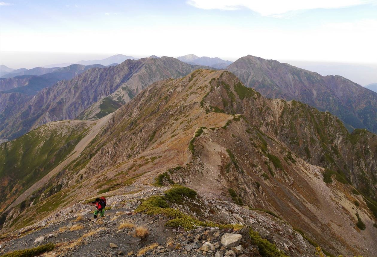 赤石岳(南アルプス、3121m)