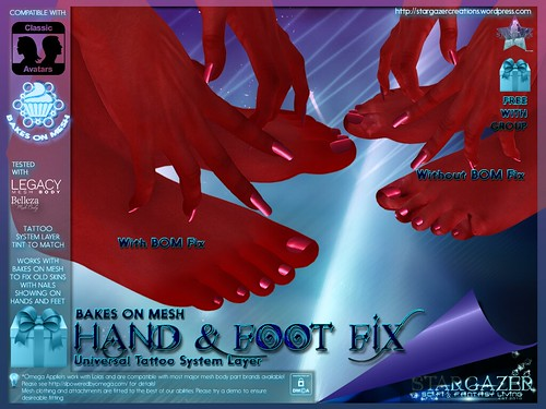 BOM Hands and Foot Fix