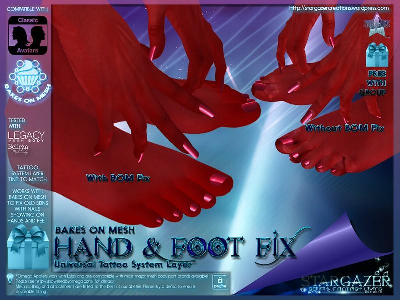 BOM Hands and Foot Fix