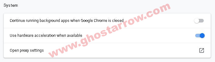 chrome setting