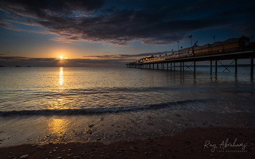 meteorologicalautumn sea torbay paigntonpier sunrise sky outdoors dawn season light clouds rtaphotography nikond750 1835 nikkor nikkor1835 beach coast southdevon devon