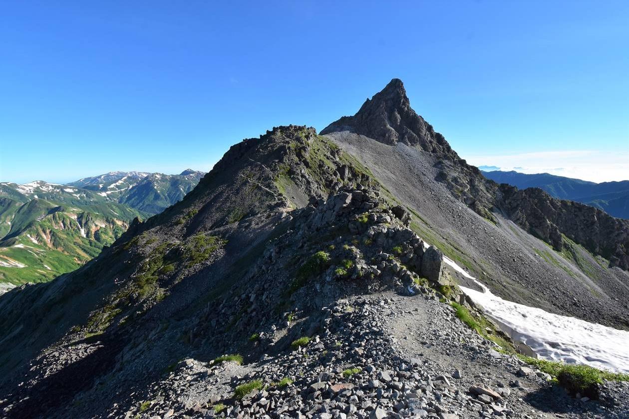 槍ヶ岳(北アルプス、3180m)