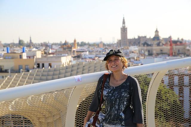 Kanitha on the rooftop of Las Setas