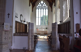 stone screen and chancel