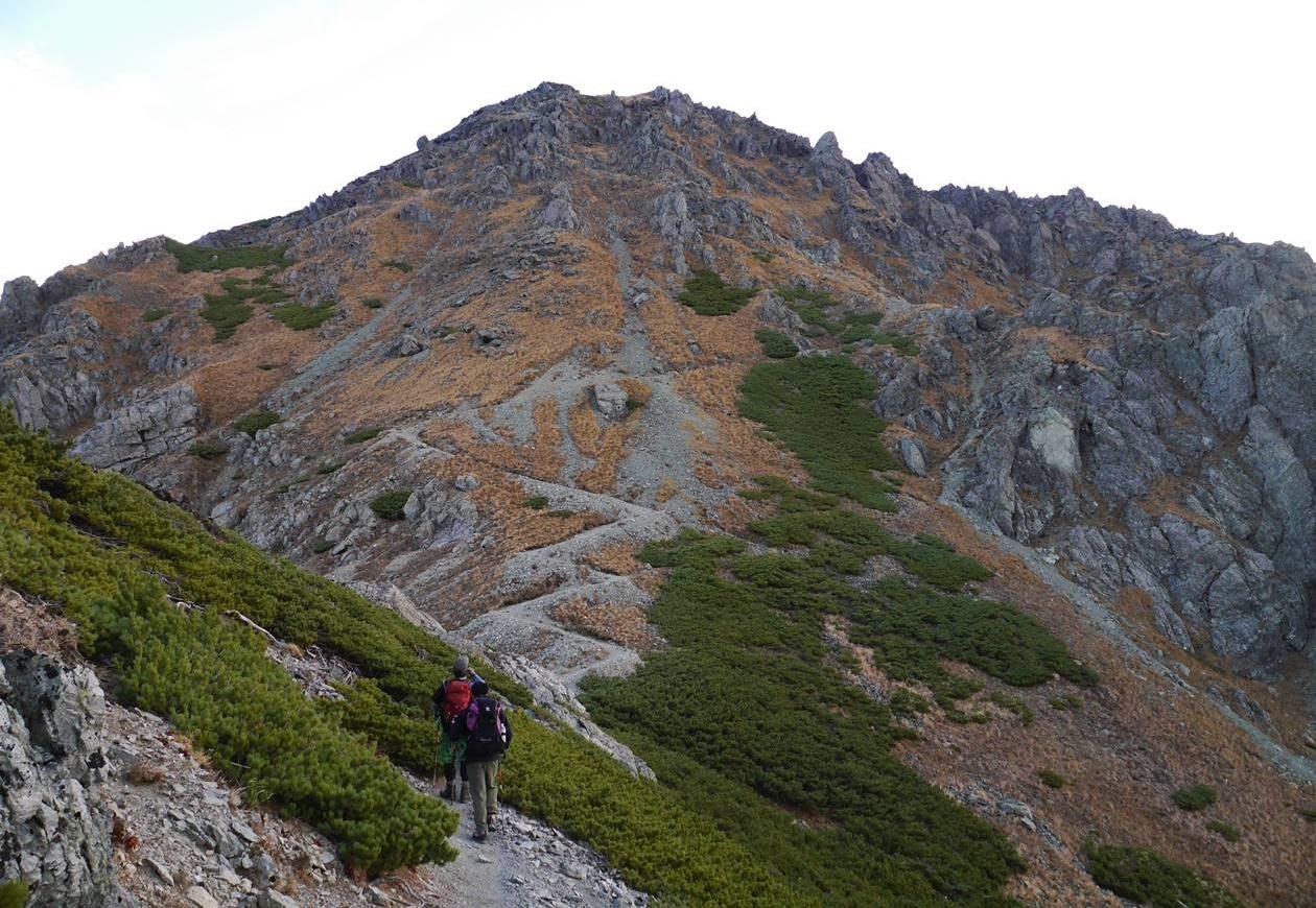 悪沢岳(南アルプス、3141m)