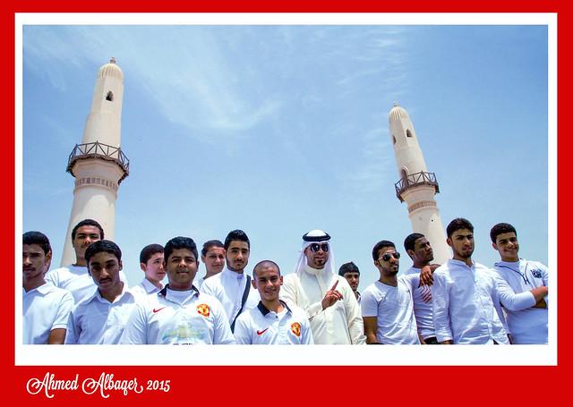 A school visit to Alkhamis mosque , the oldest mosque in Bahrain زيارة مدرسية الى مسجد الخميس