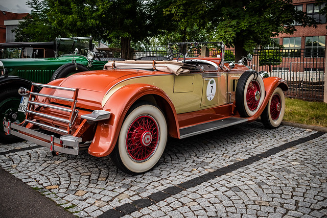 a wonderful classic PACKARD ROADSTER - rear view