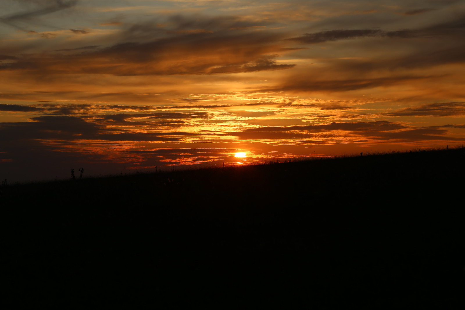 Sunset near Birling Gap