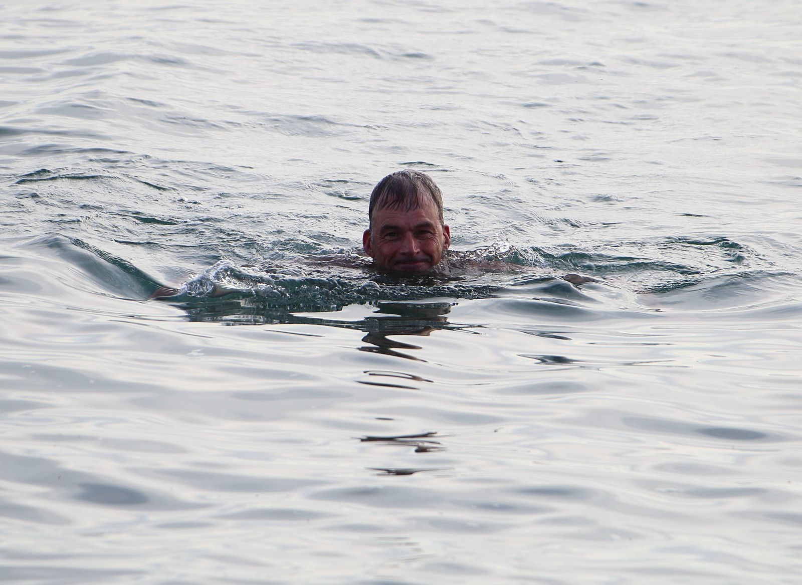 Swimmer - Cuckmere Haven